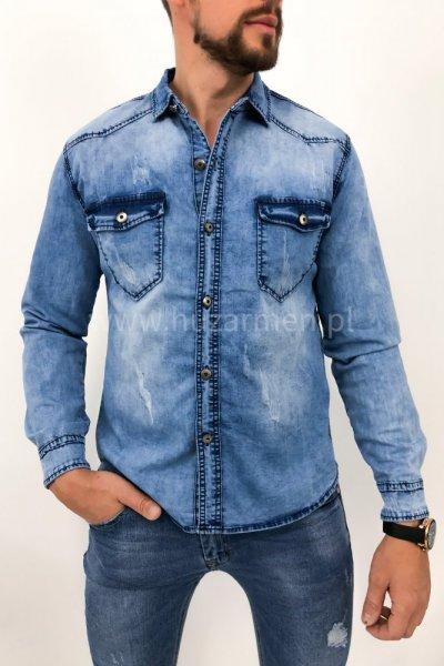 Koszula męska jeans G050