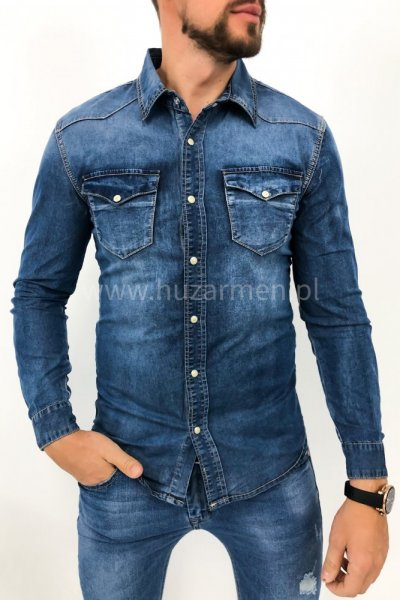 Koszula męska jeans SP632