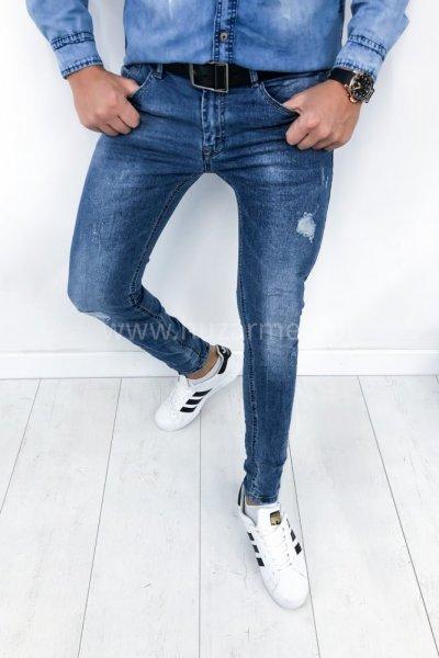 Spodnie męskie jeans NC5633 - blue