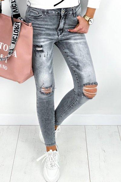 Spodnie jeans M.SARA push up - grey