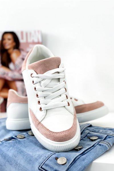 Adidasy - white/pink