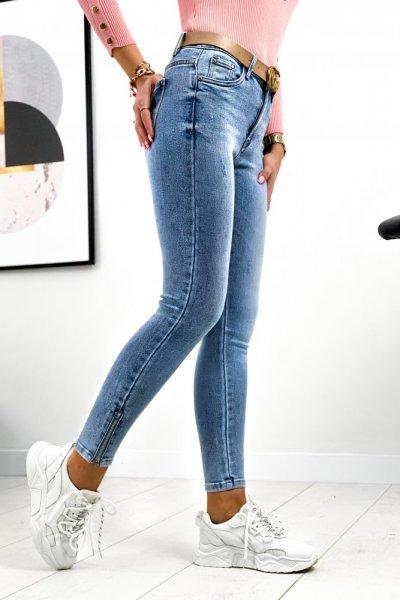 Spodnie Jeansy Skinny ZIP 2 - blue