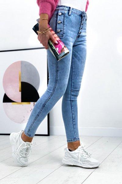 Spodnie jeans Denim Life - jasny jeans