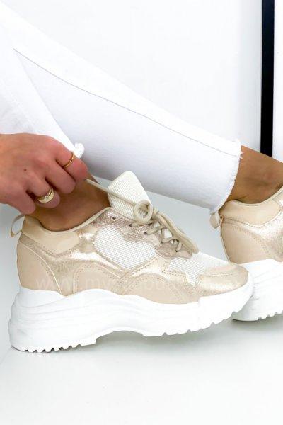 Adidasy/Sneakersy LISA - beige/gold
