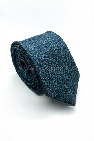 Krawat męski drobny wzór - zieleń