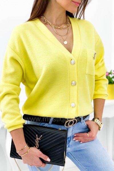 Sweterek PURRA - yellow