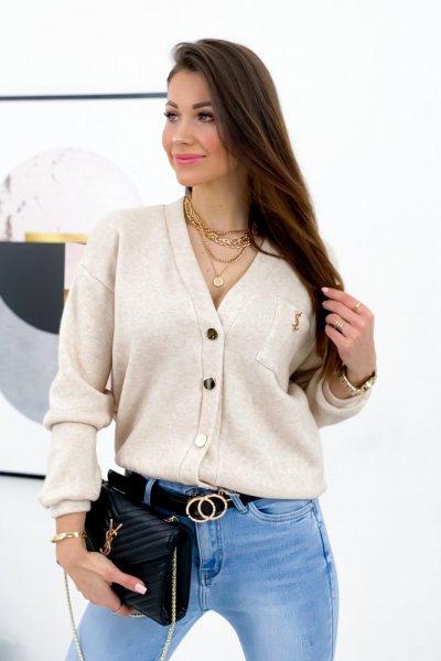 Sweterek PURRA - beige