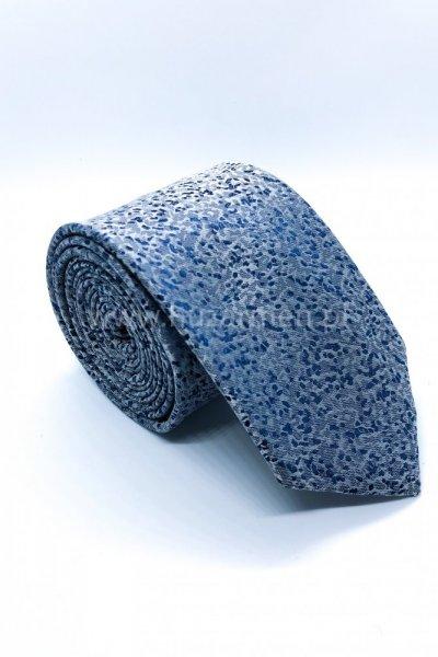 Krawat męski drobny wzór - błękit