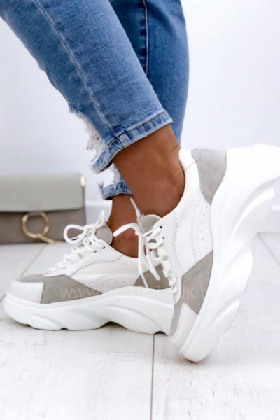 Adidasy/Sneakersy LINE - white/grey