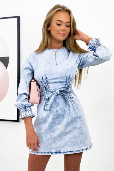 Sukienka jeansowa Monday - jasny jeans