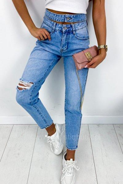 Spodnie MOM SEXY jeans - blue
