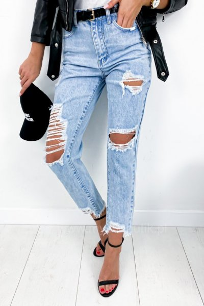 Spodnie jeans Boyfriend - blue
