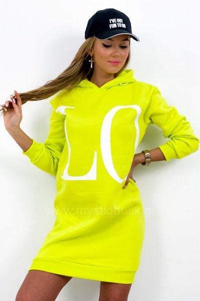 Bluza LOVE - lemon