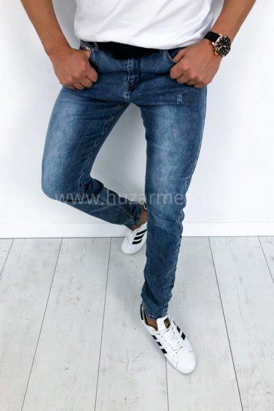 Spodnie jeans z delikatnymi przetarciami