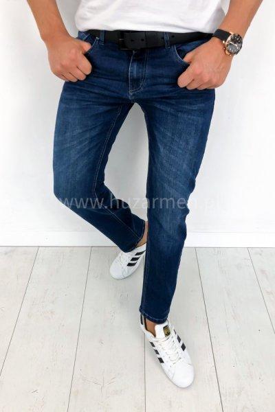 Spodnie męskie jeans prosta nogawka