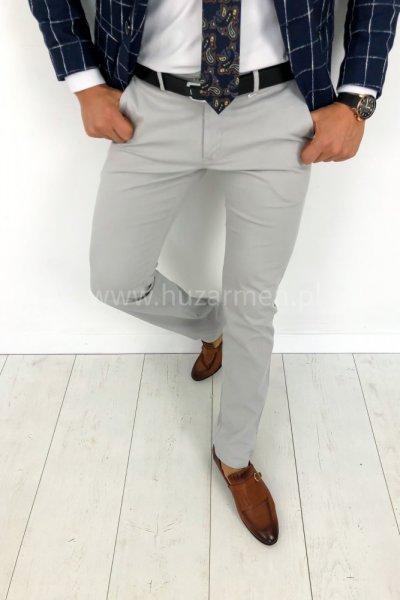Spodnie męskie materiałowe H02 szare