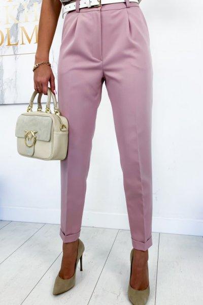 Spodnie/cygaretki w kant JUSTY - pink