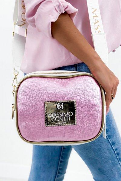 Torebka Massimo - shine pink/white