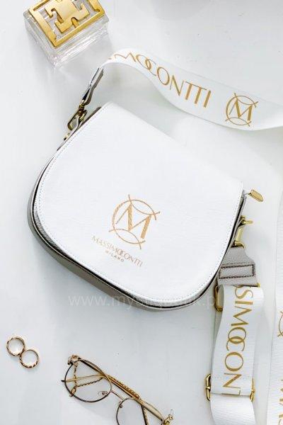 Torebka Massimo - white/gold beige
