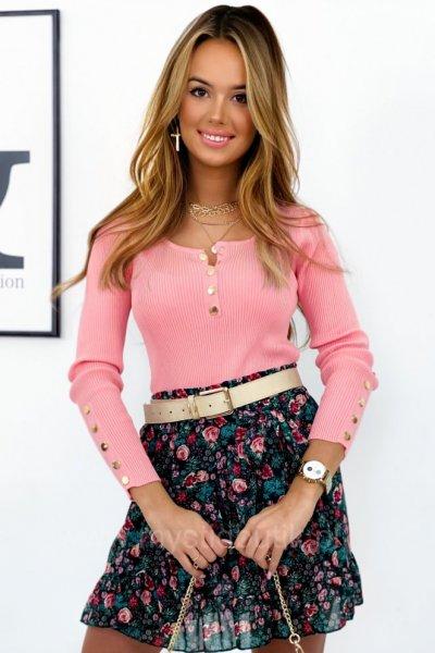 Bluzka sweterkowa MOHY - łososiowa