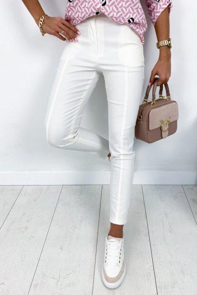 Spodnie wosk - ecru