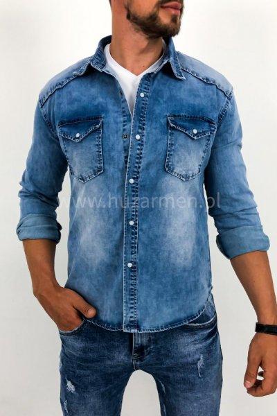 Koszula męska jasny jeans X0130-3