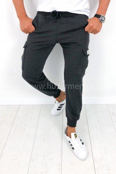 Spodnie męskie dresowe grafit B026