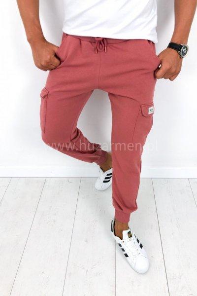 Spodnie dresowe męski różowy B026