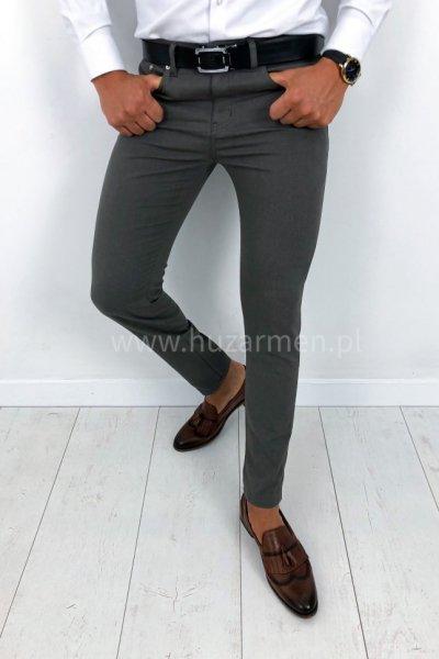 Spodnie męskie materiałowe gładkie H22 SLIM FIT
