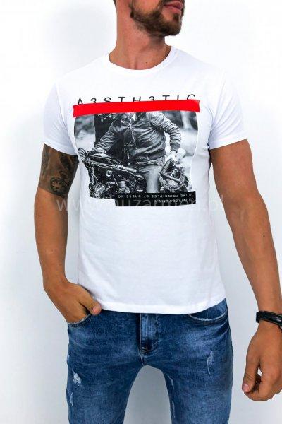 T shirt Rider biały