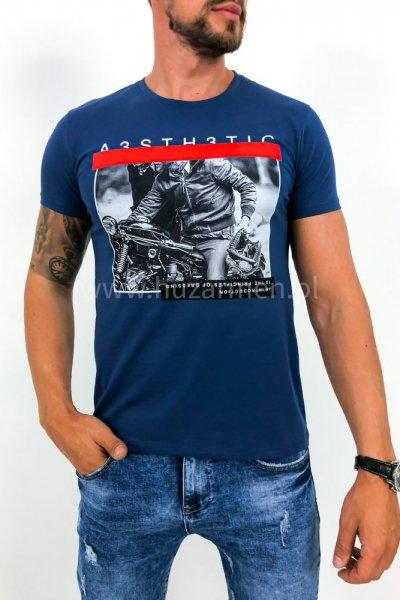 T shirt Rider niebieski