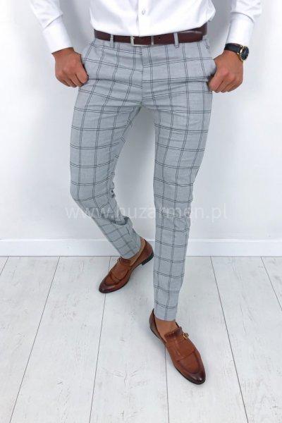 Spodnie męskie w kratę h012