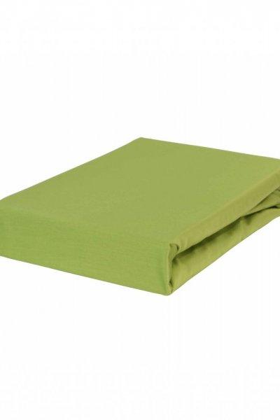 Prześcieradło z gumką JERSEY DREAM 90x220 - 100 % bawełna - zielone