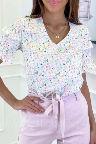 Bluzka NOVA mini Flowers - multicolor