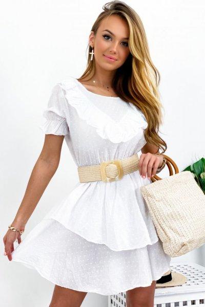 Sukienka SAJJO - white