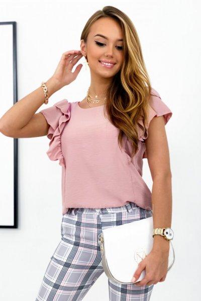 Bluzka ITALY - pudrowy róż