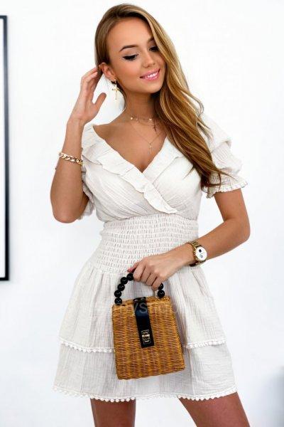 Sukienka LINO - cream