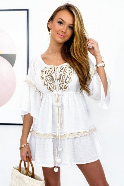 Sukienka/tunika TULUM PREMIUM - white