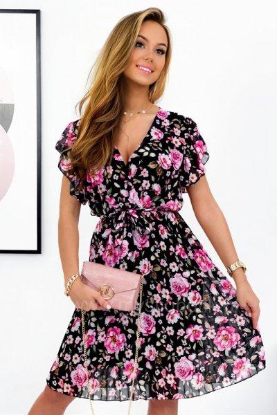 Sukienka LILIANA 2 - black/pink