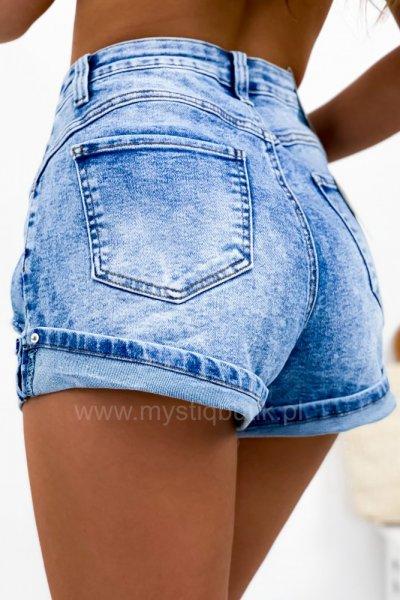 Szorty/spodenki jeans - blue