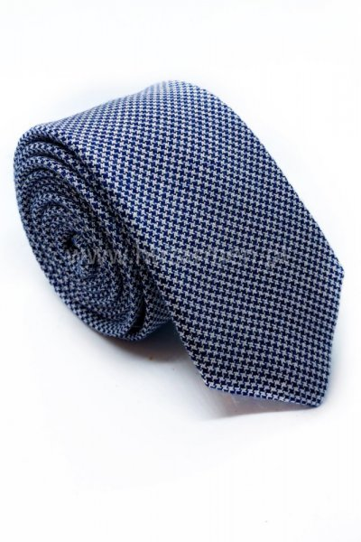Krawat męski drobna pepitka Slim