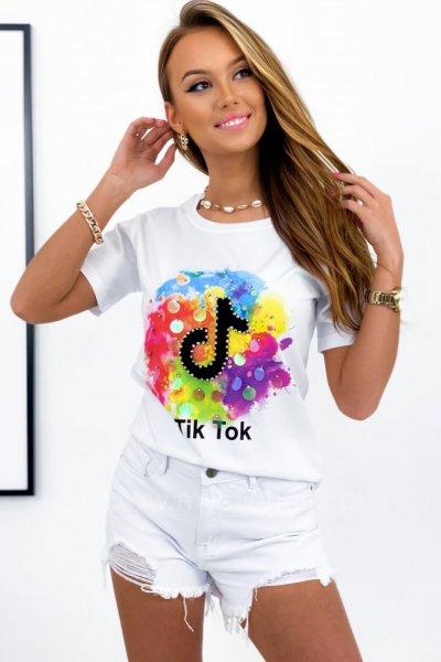 T - shirt TIK-TOK - white