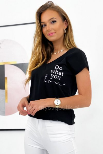 T - shirt DO WHAT YOU - black