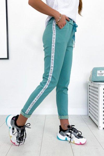 Spodnie BAGGY - miętowe