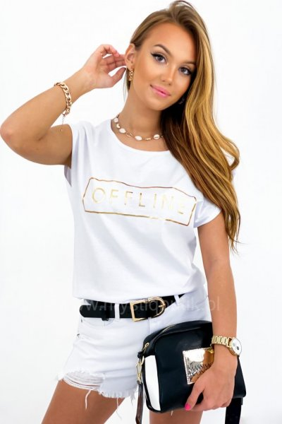 T-shirt Offline - white