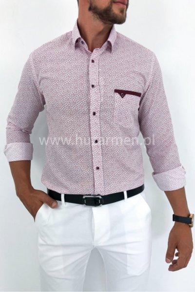 Koszula męska wzór H11 róż
