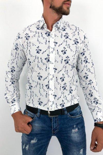 Koszula męska Flowers 8 ECRU