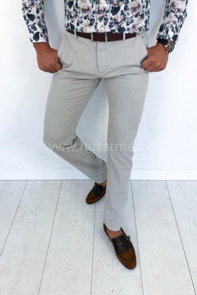 Spodnie męskie ECRU H49 GŁADKIE