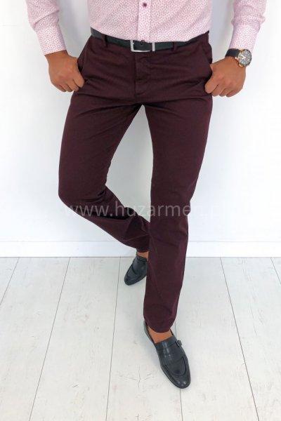 Spodnie męskie gładkie H50 - bordo