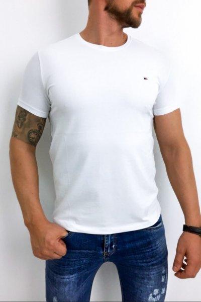 T shirt męski biały gładki klasyczny